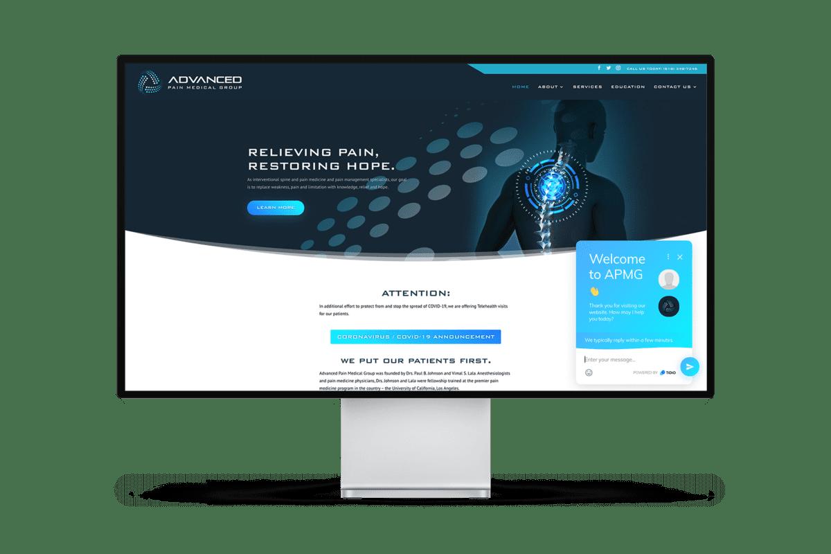 Advanced Pain Medical Website Design