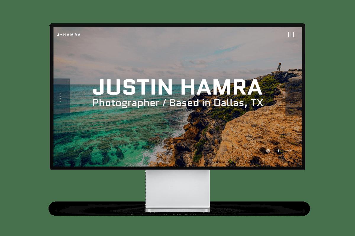 Justin Hamra Photography Website Design
