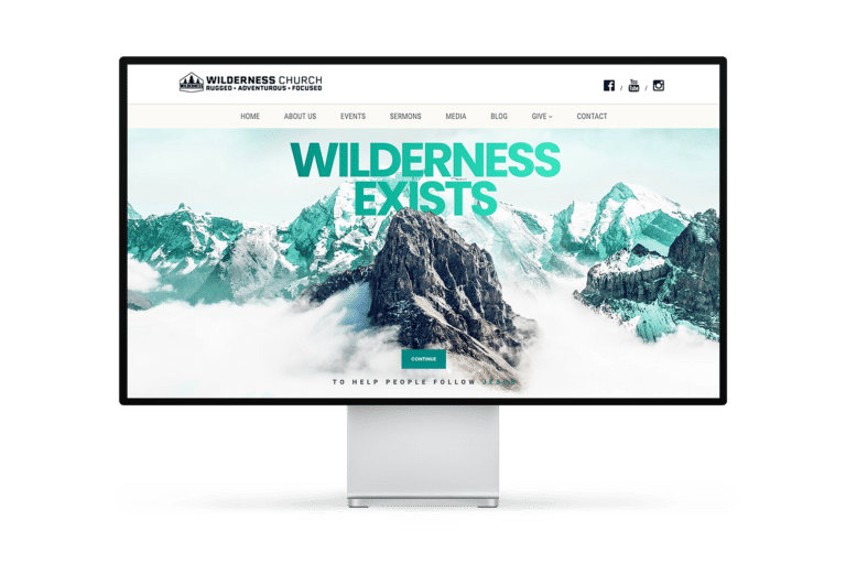 Wilderness Church Website Design
