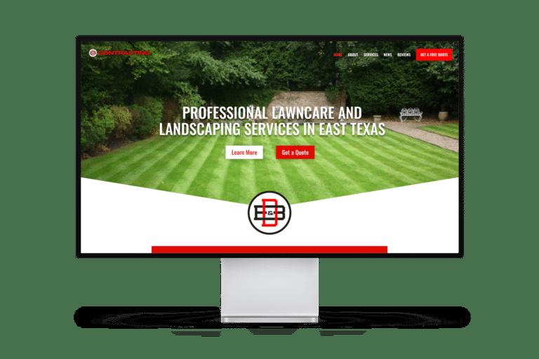 B & D Contracting Website Design