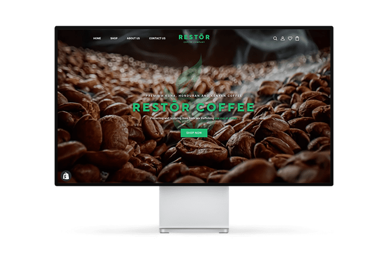 Restōr Coffee Website Design