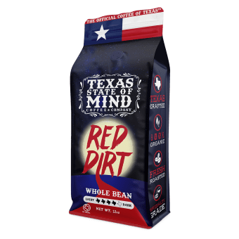 Texas State of Mind Coffee Company Red Dirt Bag Packaging Product Design